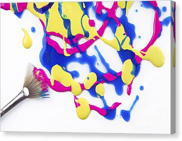 Paint Splatter Canvas Print by Diane Diederich
