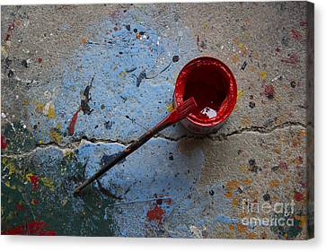 Paint The Town Red Canvas Print by Nola Lee Kelsey