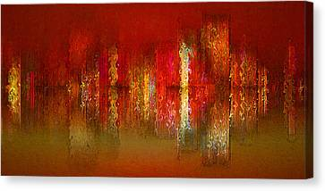 Paint The Town Red Canvas Print by Stuart Turnbull