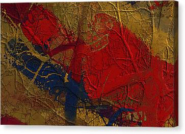 Painted And Etched Brass Canvas Print by Constance Krejci