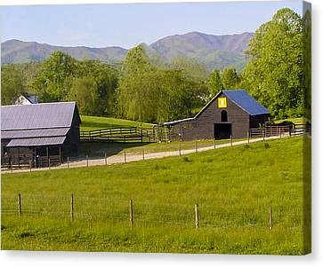 Painted Barn Quilt Two And A Half Canvas Print by Robert J Andler