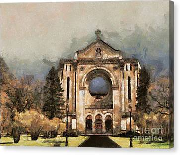 Painted Basilica Canvas Print by Teresa Zieba