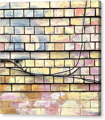 Painted Brick Canvas Print by Julie Gebhardt