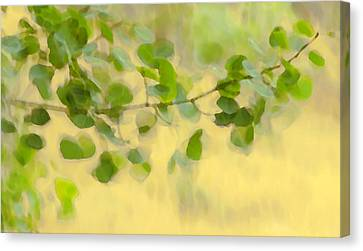 Wind Blown Tree Canvas Print - Painted By The Wind Two by Theresa Tahara