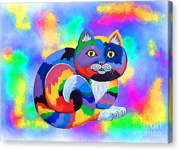 Painted Cat Canvas Print by Nick Gustafson
