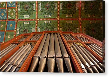 Painted Ceiling In English Church Canvas Print