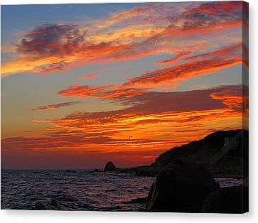 Painted Clouds Sunrise Canvas Print by Dianne Cowen