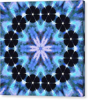Painted Cymatics 108.00hz Canvas Print by Derek Gedney