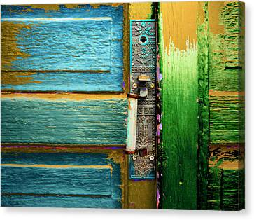 Painted Doors Canvas Print