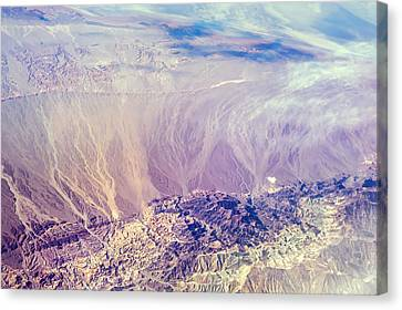 Painted Earth I Canvas Print by Jenny Rainbow