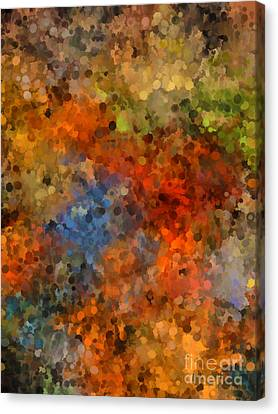 Painted Fall Abstract Canvas Print by Andrea Auletta