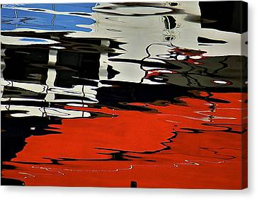 Painted Flow 18 Canvas Print by Arj Munoz