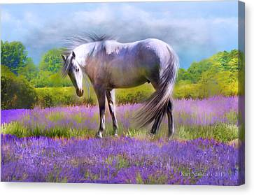 Painted For Lavender Canvas Print by Kari Nanstad