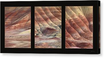 Painted Hills Triptych Canvas Print by Leland D Howard