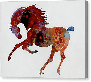 Painted Horse A Canvas Print by Mary Armstrong