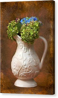 Painted Hydrangeas Canvas Print by Trina  Ansel