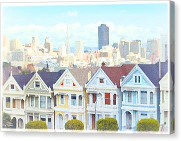 Painted Ladies Alamo Square San Francisco Canvas Print by Douglas MooreZart