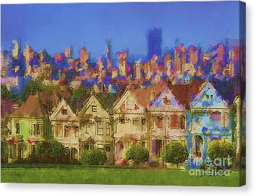 Painted Ladies Canvas Print by Andrea Auletta