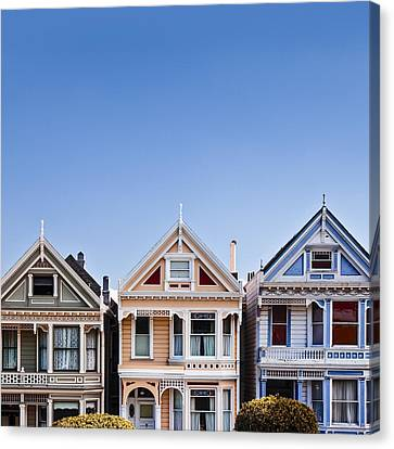 Architecture Canvas Print - Painted Ladies by Dave Bowman