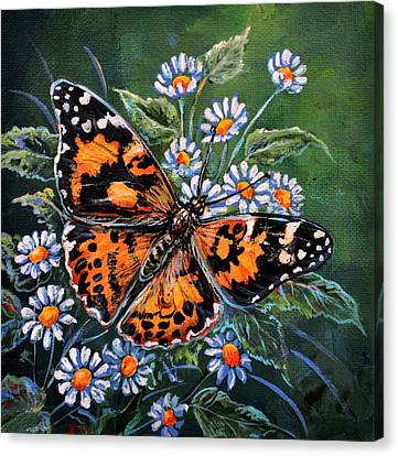 Painted Lady Canvas Print by Gail Butler
