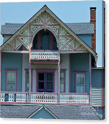 Painted Lady In Ocean Grove Nj Canvas Print by Anna Lisa Yoder