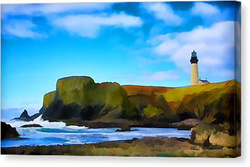 Painted Lighthouse Canvas Print by Steve McKinzie
