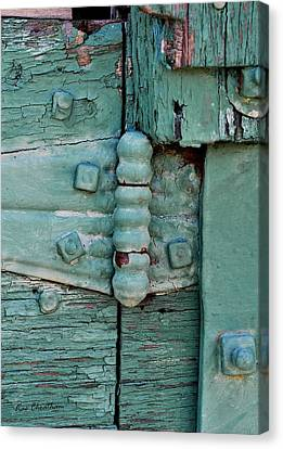 Painted Metal And Wood Canvas Print