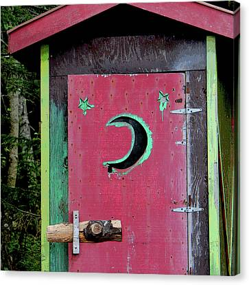 Painted Outhouse Canvas Print