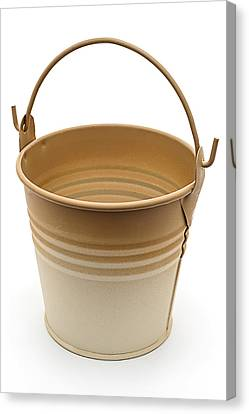 Painted Pail Canvas Print by Donald  Erickson