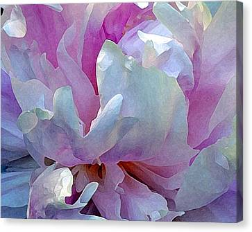 Painted Peony Canvas Print by Jodie Marie Anne Richardson Traugott          aka jm-ART