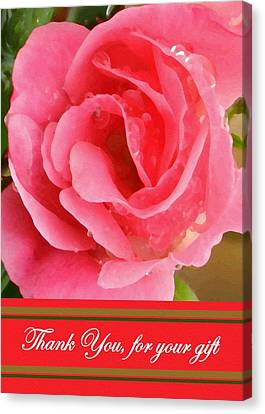 Painted Pink Rose Canvas Print by Madeline  Allen - SmudgeArt