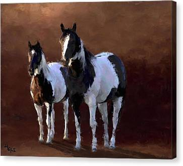Painted Ponies Canvas Print by Roger D Hale