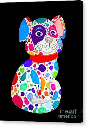 Painted Pooch 2 Canvas Print by Nick Gustafson