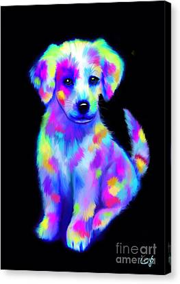 Painted Pup 2 Canvas Print by Nick Gustafson