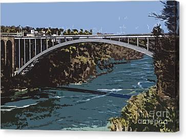 Canvas Print featuring the photograph Painted Rainbow Bridge by Jim Lepard