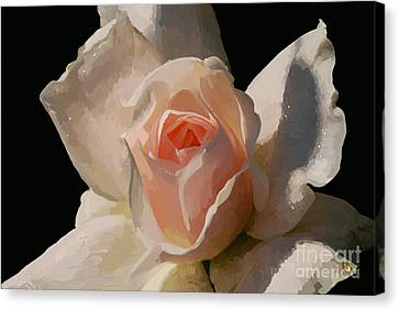 Painted Rose Canvas Print by Lois Bryan