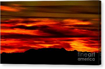 Canvas Print featuring the photograph Painted Sky 34 by Mark Myhaver
