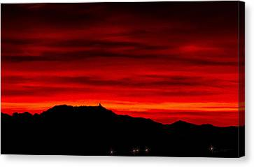 Canvas Print featuring the photograph Painted Sky 36 by Mark Myhaver