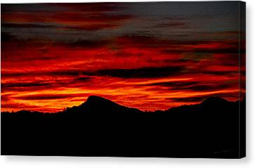 Canvas Print featuring the photograph Painted Sky 45 by Mark Myhaver