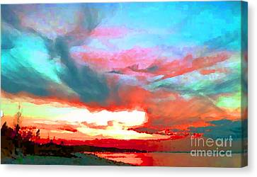 Painted Sky Canvas Print by Holly Martinson