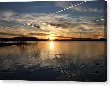 Canvas Print featuring the photograph Painted Sky by Richard Stephen