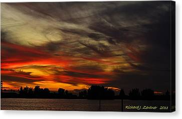 Canvas Print featuring the photograph Painted Sky by Richard Zentner