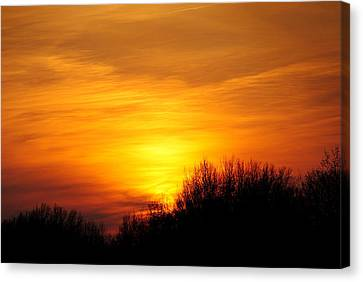 Painted Sky Canvas Print by Frozen in Time Fine Art Photography