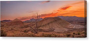 Painted Sunset Canvas Print by Ryan Manuel