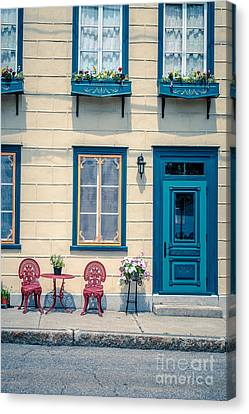 Painted Townhouse In Old Quebec City Canvas Print