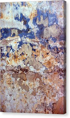 Painted Wall Abstract Canvas Print by Ben Kotyuk
