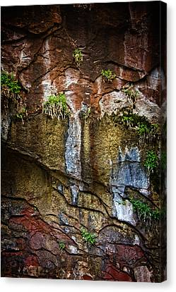 Canvas Print featuring the photograph Painted Walls Of Oak Creek No. 1 by Dave Garner