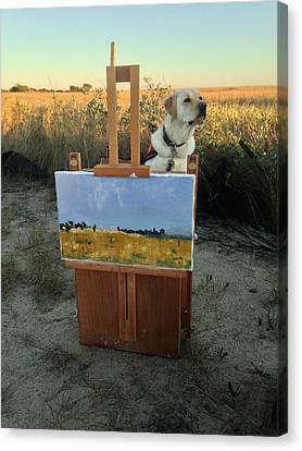 Painterly Lab Canvas Print