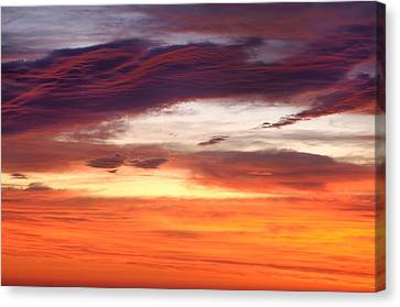 Canvas Print featuring the photograph Painterly Sunrise On The Blue Ridge Parkway by Photography  By Sai
