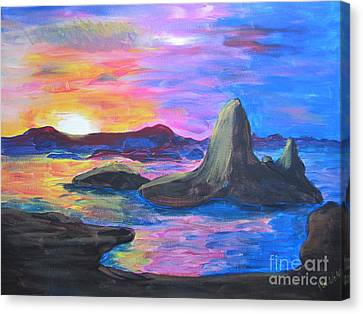 Painting     Grand Finale Canvas Print by Judy Via-Wolff